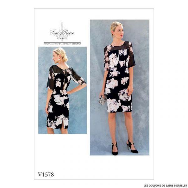 Patron Vogue V1578 : Robe
