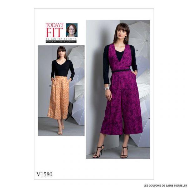 Patron Vogue V1580 : Pantalon