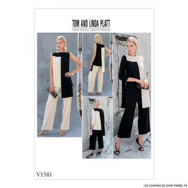 Patron Vogue V1581 : Tunique et pantalon