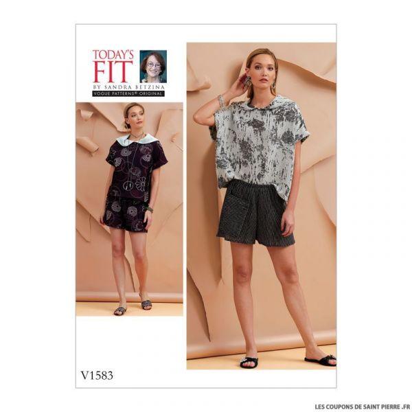 Patron Vogue V1583 : Haut et short