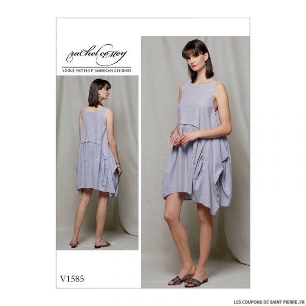 Patron Vogue V1585 : Robe