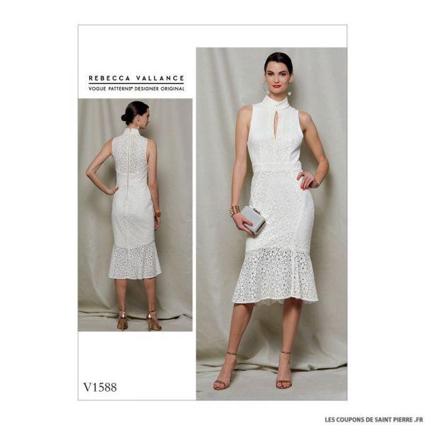 Patron Vogue V1588 : Robe