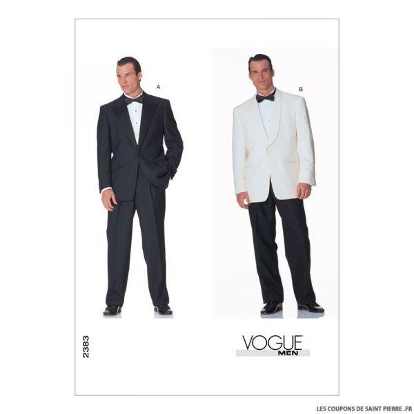 patron vogue v1283 veste et pantalon homme coupons de. Black Bedroom Furniture Sets. Home Design Ideas