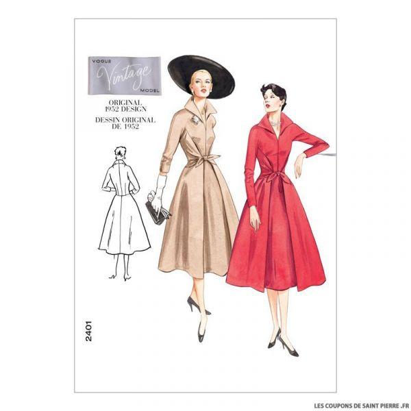 Patron Vogue V2401 : Robe