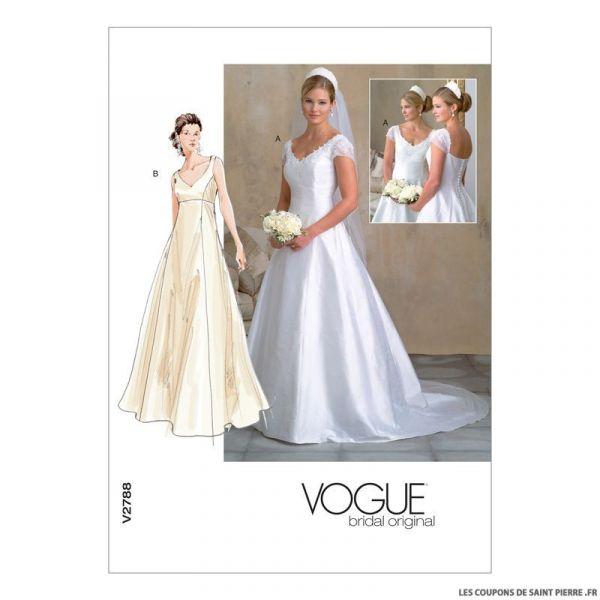 Patron Vogue V2788 : Robe