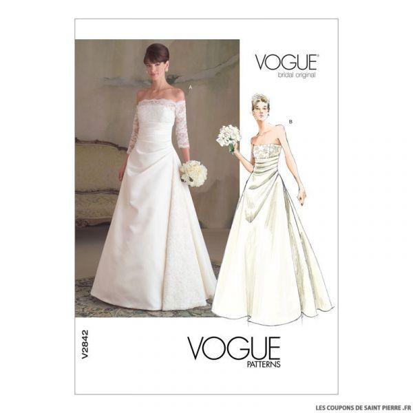 Patron Vogue V2842 : Robe