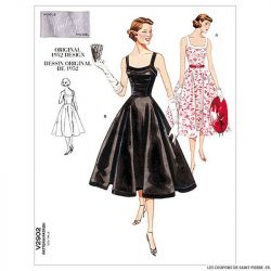 Patron Vogue V2902 : Robe