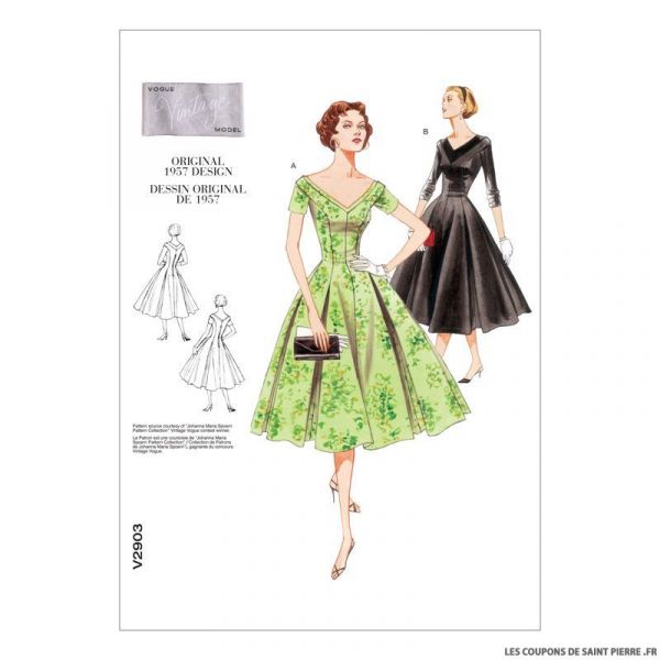 Patron Vogue V2903 : Robe