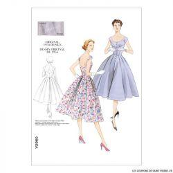 Patron Vogue V2960 : Robe