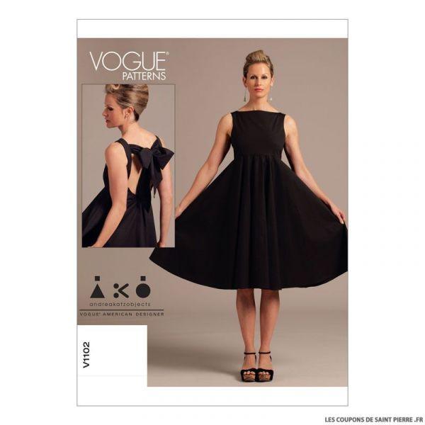 Patron Vogue V1102 : Robe
