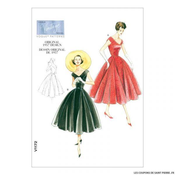 Patron Vogue V1172 : Robe et ceinture