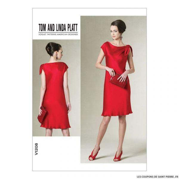 Patron Vogue V1208 : Robe