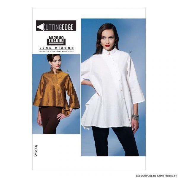 Patron Vogue V1491 : Tunique et pantalon
