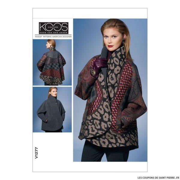 Patron Vogue V1277 : Veste réversible