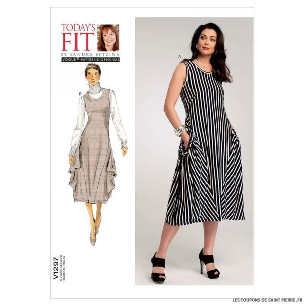 Patron Vogue V1297 : Robe