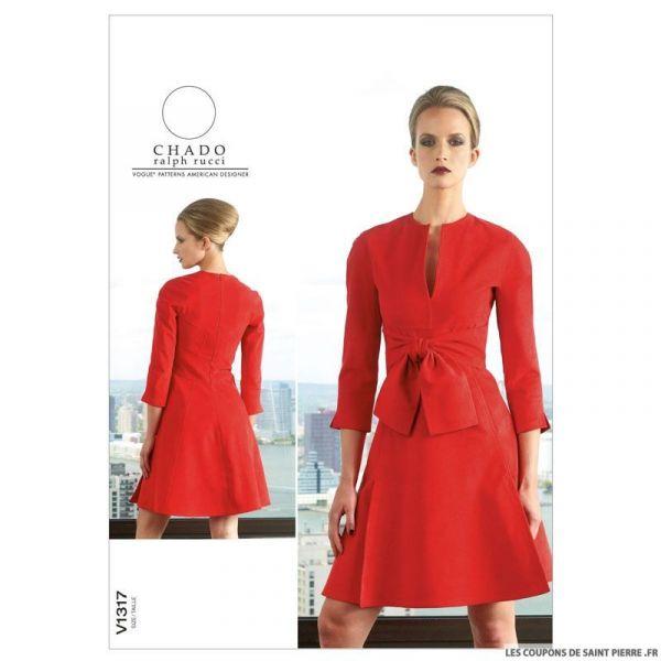 Patron Vogue V1317 : Robe