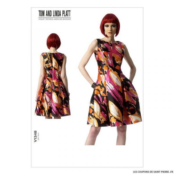 Patron Vogue V1348 : Robe