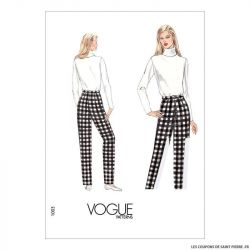Patron Vogue V1003 : Pantalon toile de base