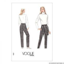 Patron Vogue V1003 : Pantalon toile de base