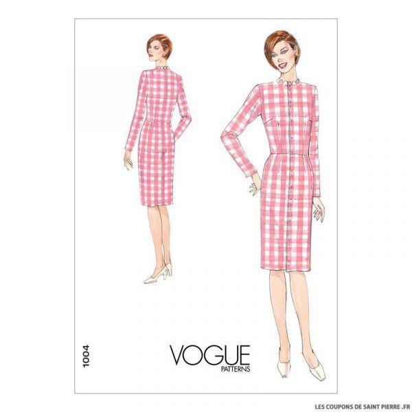 Patron Vogue V1004 : Robe toile de base
