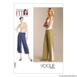 Patron Vogue V1050 : Pantalon