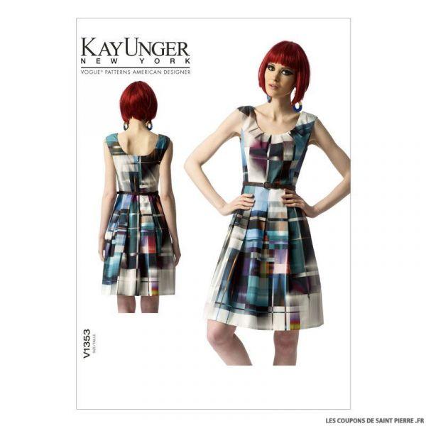 Patron Vogue V1353 : Robe