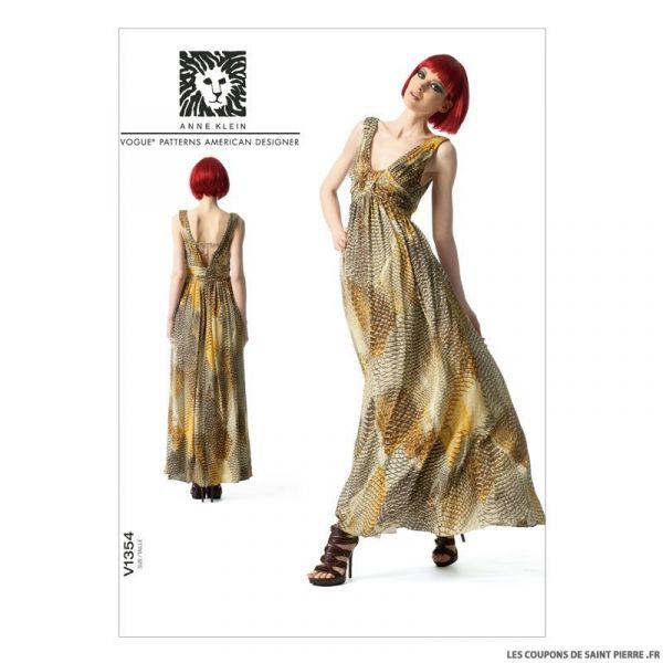 Patron Vogue V1354 : Robe