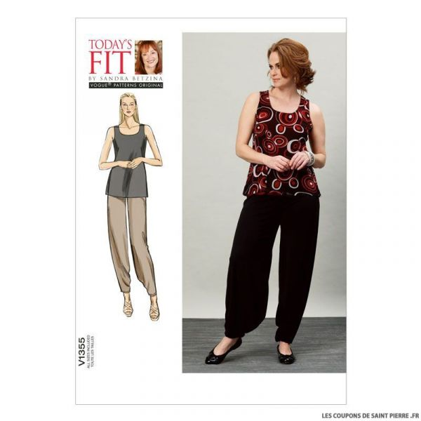 Patron Vogue V1355 : Haut et pantalon