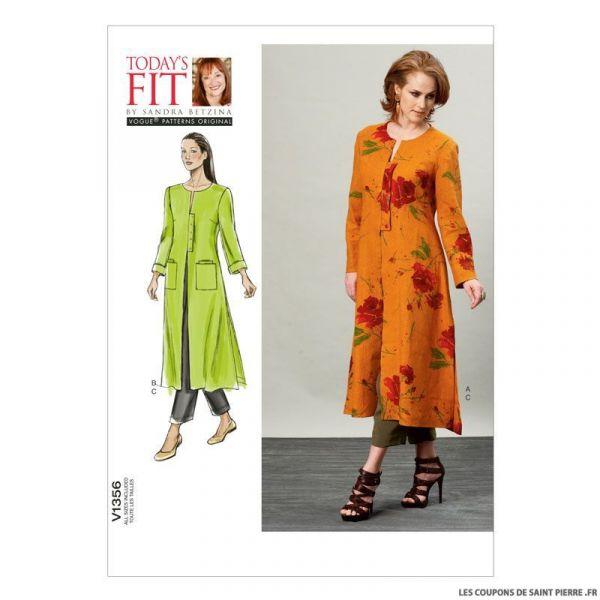 Patron Vogue V1356 : Veste et pantalon