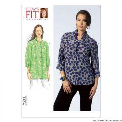 Patron Vogue V1385 : Haut