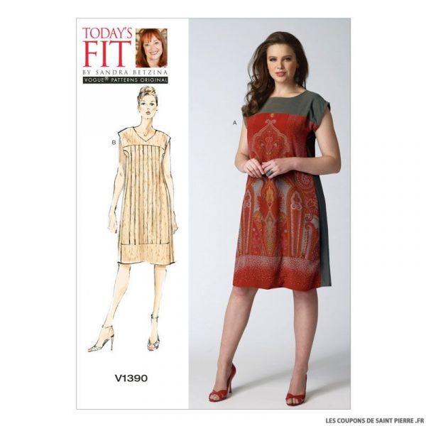 Patron Vogue V1390 : Robe