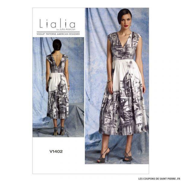 Patron Vogue V1402 : Robe