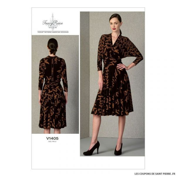 Patron Vogue V1405 : Robe