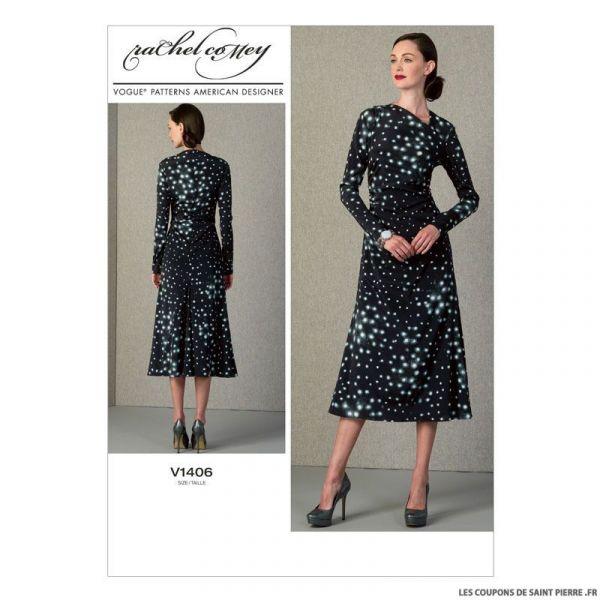 Patron Vogue V1406 : Robe