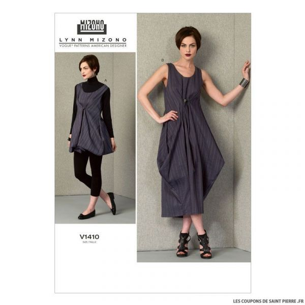 Patron Vogue V1410 : Robe