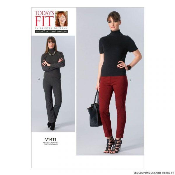 Patron Vogue V1411 : Pantalon
