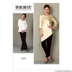 Patron Vogue V1415 : Tunique et pantalon
