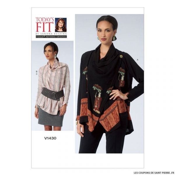 Patron Vogue V1430 : Chemisier et jupe