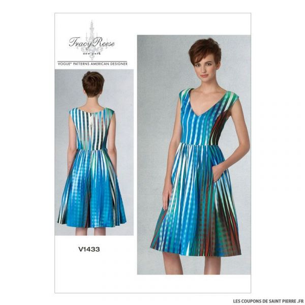Patron Vogue V1433 : Robe
