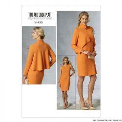 Patron Vogue V1435 : Veste et robe