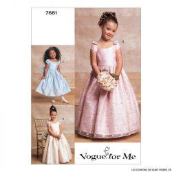Patron Vogue V7681 : Robe enfant