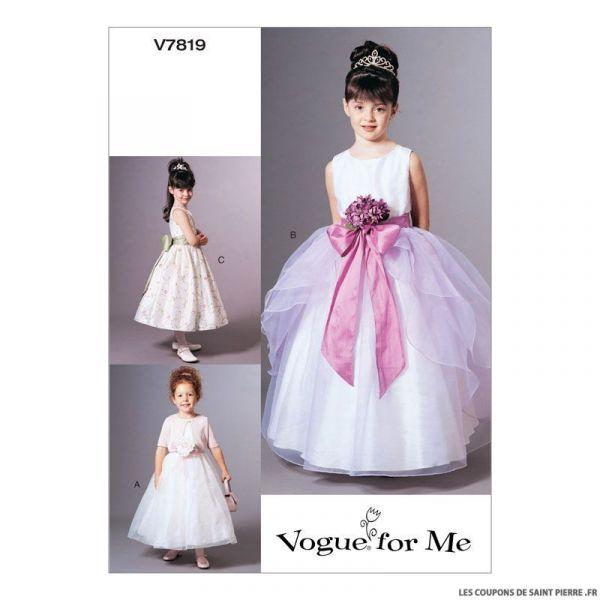 patron vogue v7819 veste et robe enfant coupons de. Black Bedroom Furniture Sets. Home Design Ideas