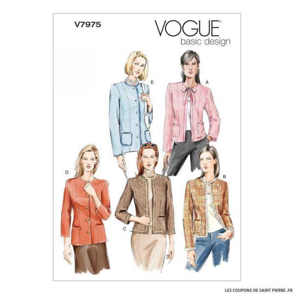 Patron Vogue V7975 : Veste
