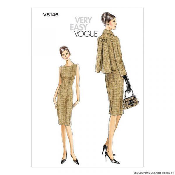 Patron Vogue V8146 : Veste et robe