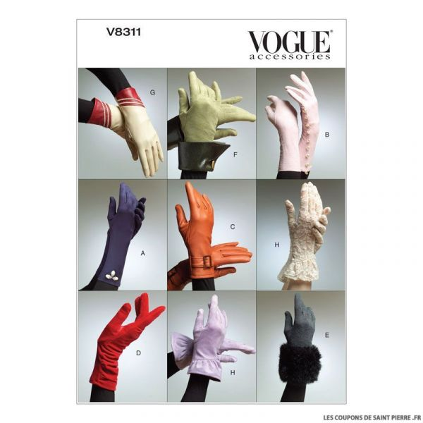 Patron Vogue V8311 : Gants