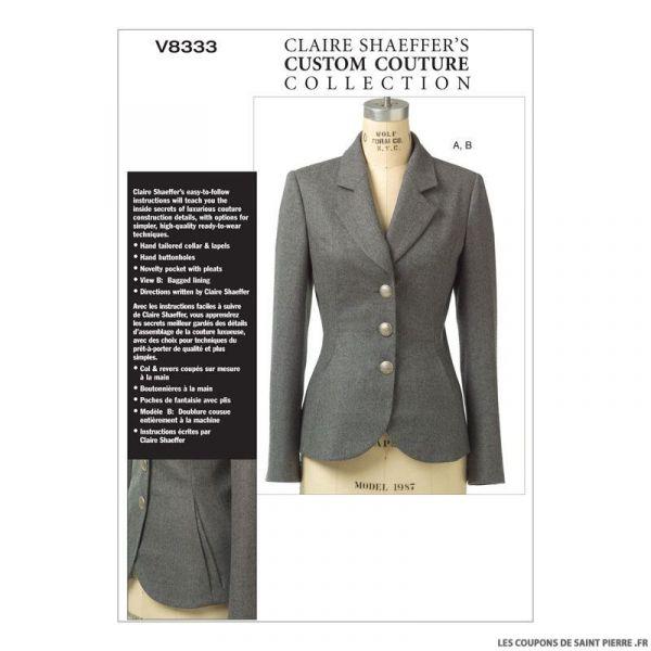 Patron Vogue V8333 : Veste
