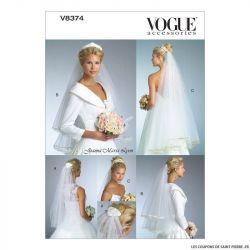 Patron Vogue V8374 : Voile de mariée