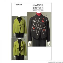 Patron Vogue V8430 : Veste