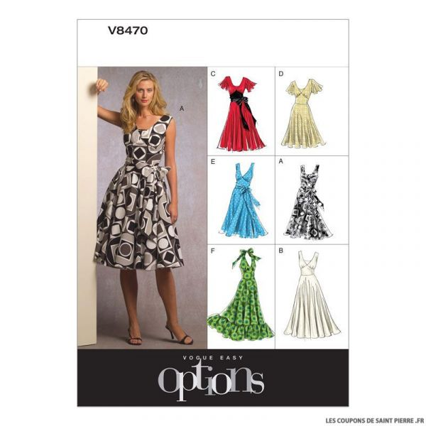 Patron Vogue V8470 : Robe