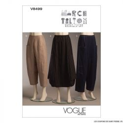 Patron Vogue V8499 : Jupe et pantalon